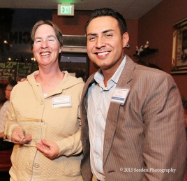 Rookie of the Year – Rhonda Migliorini with Sergio Flores