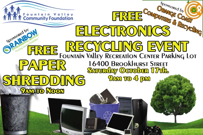 Thank you to Orange Coast Computers and Recyling and Rainbow Environmental Services for sponsoring the event.!